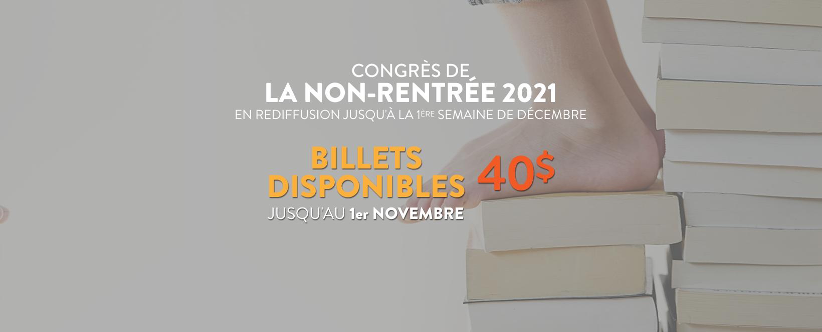 Congrès de la non-rentrée 2021